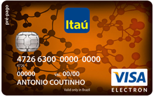 Cartão Pré-Pago Itaú Visa