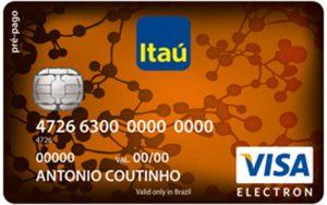 Cartão pré-pago Itaú Recarregável Visa
