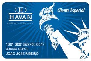 Como fazer cartão Havan pela internet, fatura de boleto, 0800