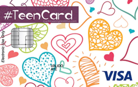 Como tirar cartão #TEEN Card Visa Mesada