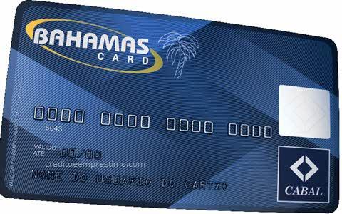 Cartão Bahamas BahamasCard, como fazer, fatura online