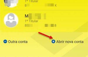 Tela app Abrir nova conta, como abrir conta no Banco do Brasil pelo celular