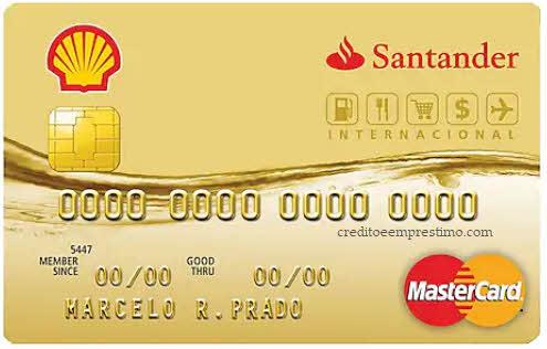Como pedir o cartão Shell Santander