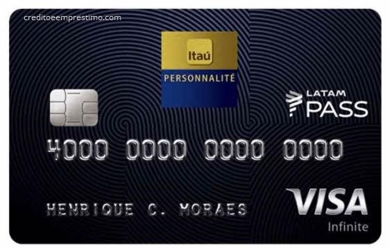 cartão  Itaú Personnalité LATAM Pass Visa Infinite