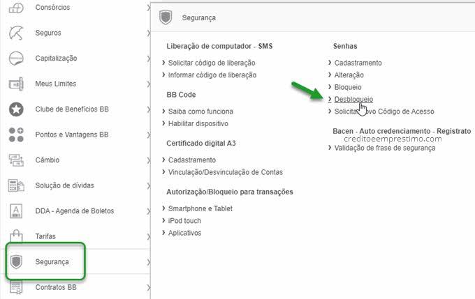 Como desbloquear senha de 6 dígitos do Banco do Brasil