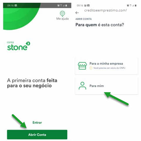 Como criar Conta Stone abrir conta digital