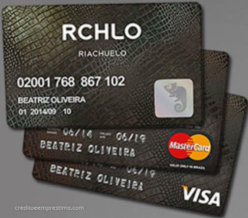 Como pedir o cartão da Riachuelo, cartão comum e cartão de crédito Visa ou Master