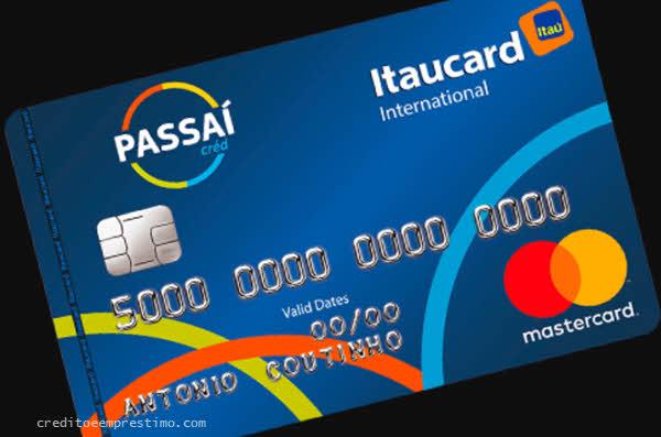 Como pedir cartão Passaí Itaucard