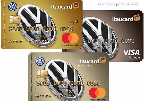Como pedir cartão Volkswagen Itaucard Visa e Mastercard